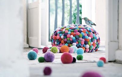 colorful bean bag