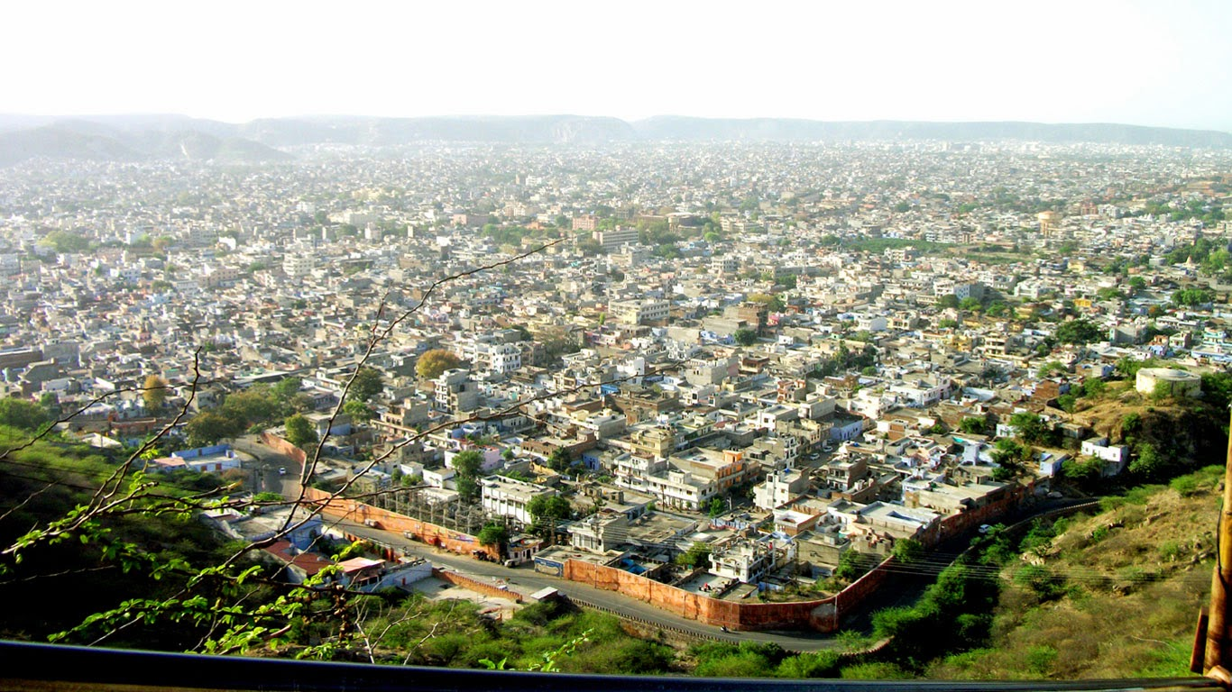 Jaipur City view from Gad ganesh