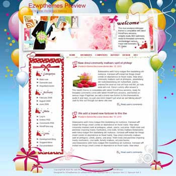 Group Wedding blogger template. template blog from wordpress