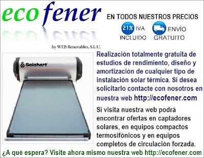 Ofertas en equipos solares térmicos en http://ecofener.com