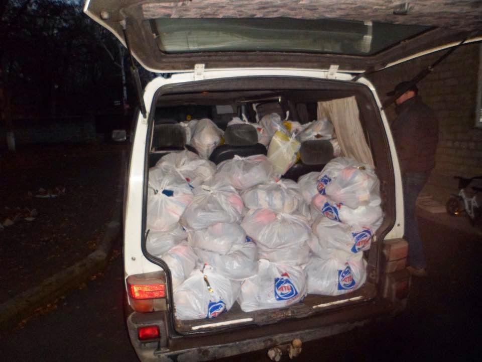 Загружаем гуманитарную помощь для Дебальцево!