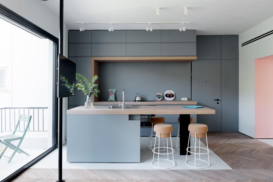 stile scandinavo per un appartamento di 55 mq a tel aviv - Soggiorno Cucina 35 Mq