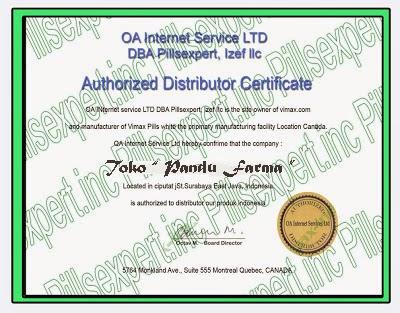 sertifikat asli vimax