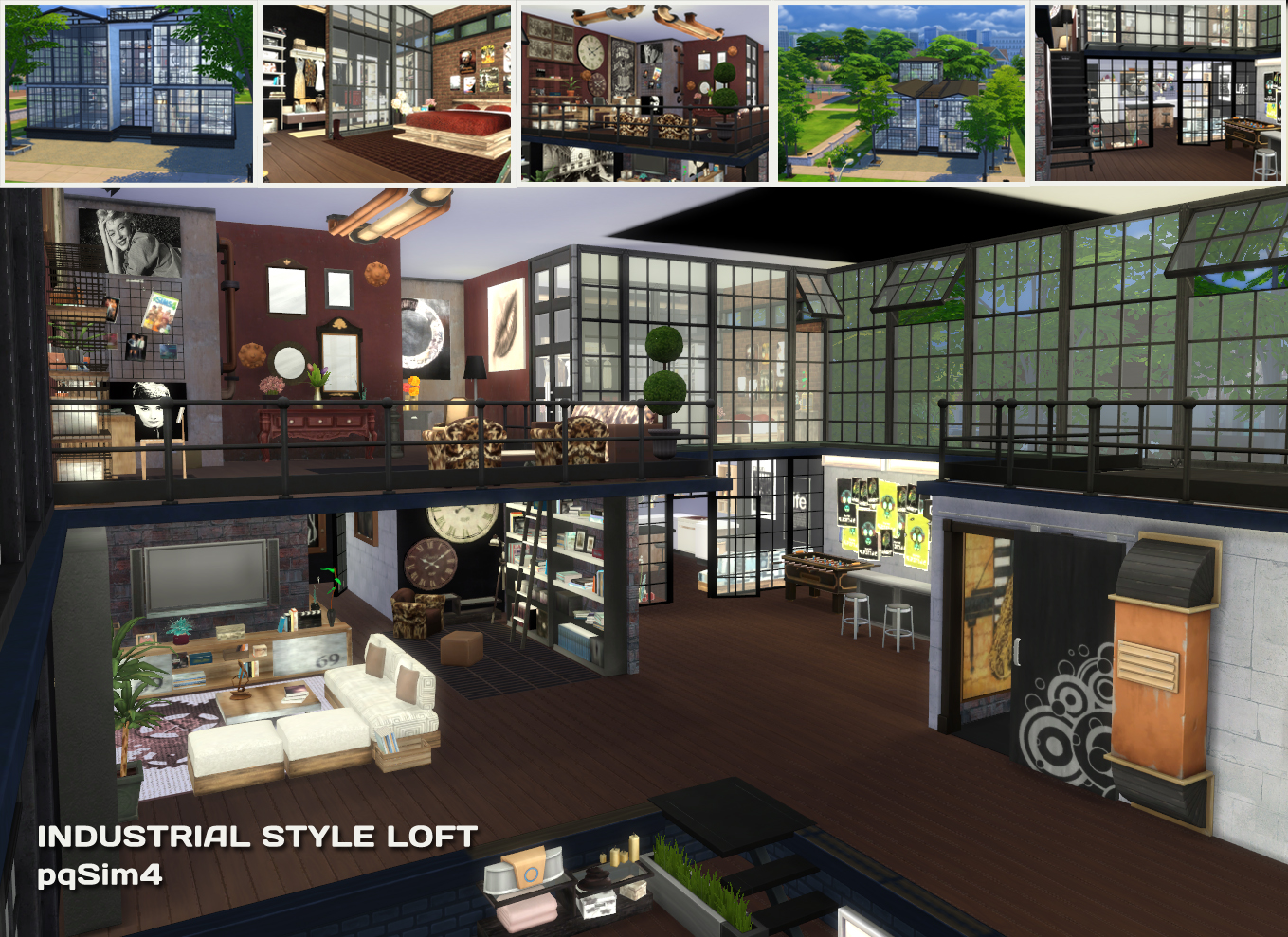 sims 4 cc's - the best: industrial style loft by pqsim4, Badezimmer ideen