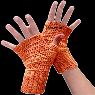KNITTING PATTERN FINGERLESS GLOVES MITTEN COVER   KNITTING ...