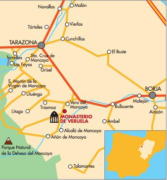 Mapa de Veruela