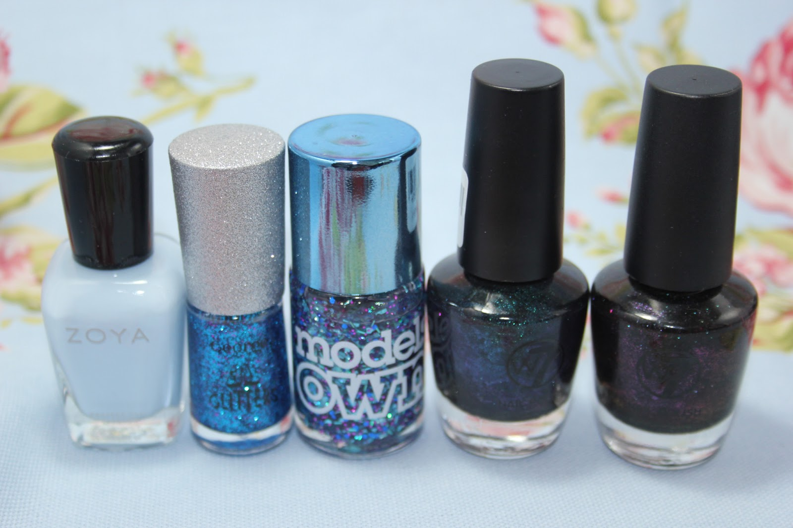 My nail polish collection - blue & teal - Love Leah