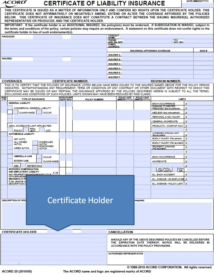Simply-Easier-ACORD-Forms: ACORD 25 - Certificate Holder - Part 17 ...