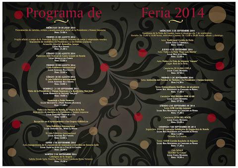 Ronda - Feria de Pedro Romero 2014 - Programa de Feria
