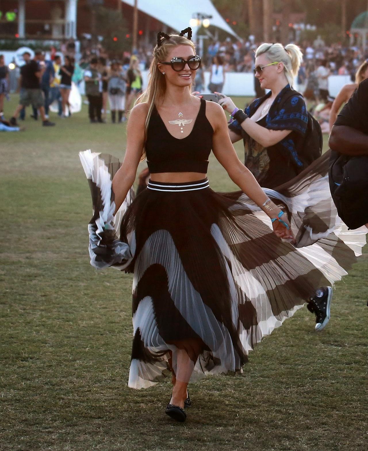 Socialite, Television Personality, Model, Actress, Singer @ Paris Hilton - Coachella Music & Arts Festival