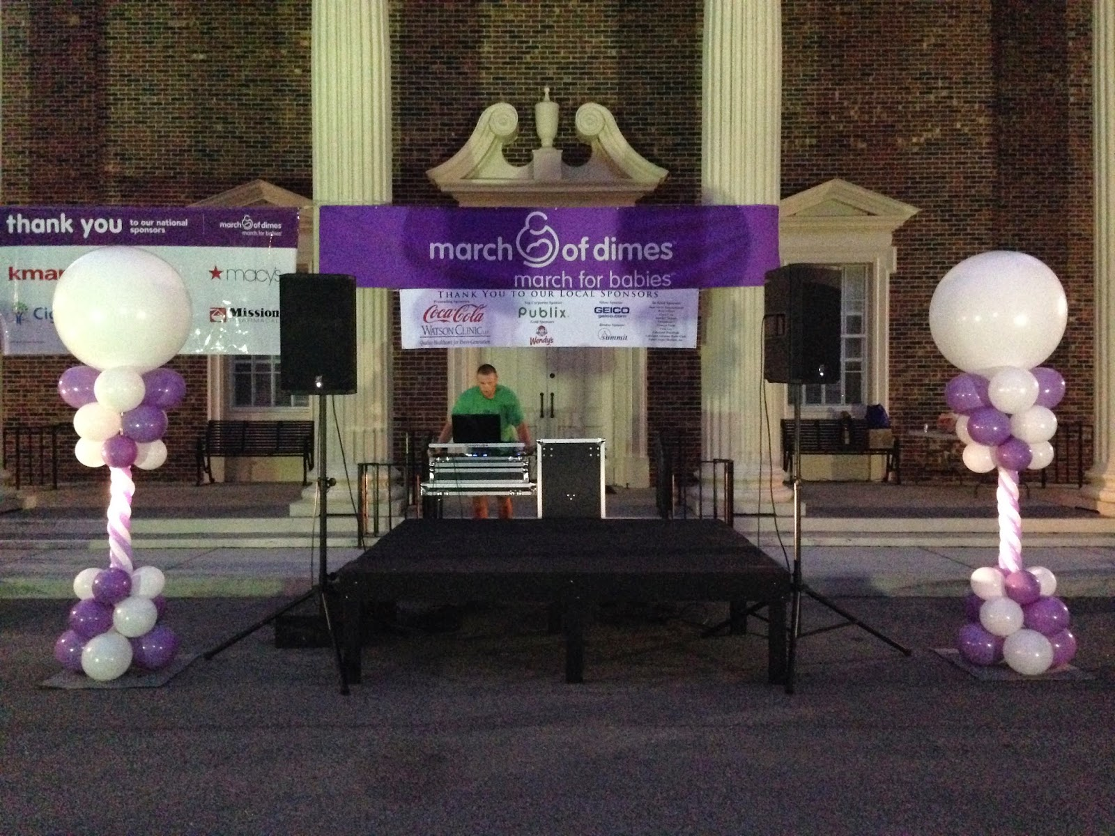 Party people event decorating company march for babies for Balloon decoration for corporate events