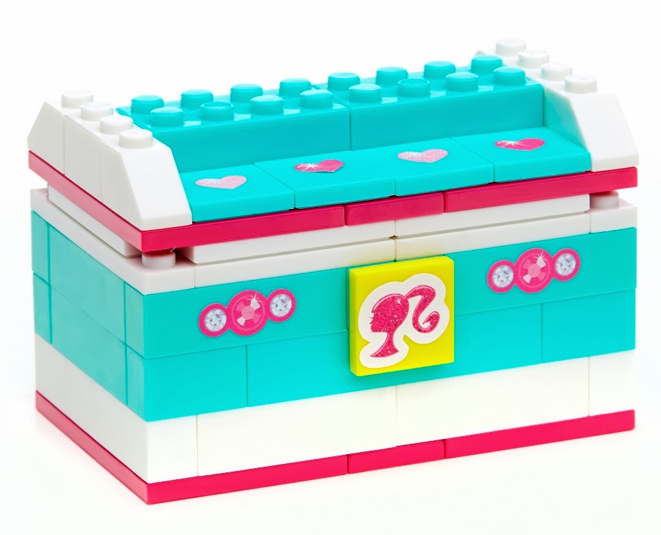 Barbie Portagioelli mattoncini Mega Bloks Costruzioni Mattel