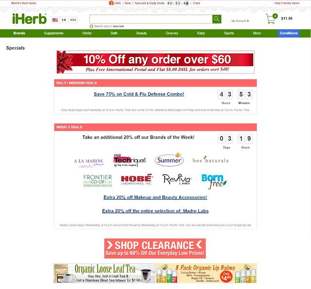 Promociones en iHerb! Envío de 4 dólares y más!!