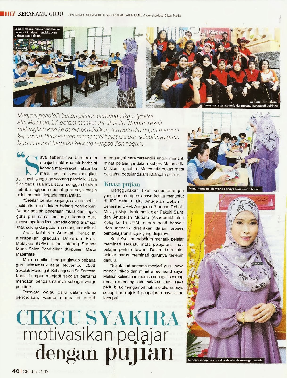 FEATURED in MINGGUAN WANITA (4-10 Okt 2013)