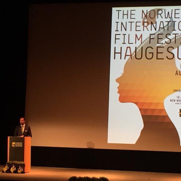 Crown Prince Haakon of Norway attended the Norwegian international Film Festival 2015