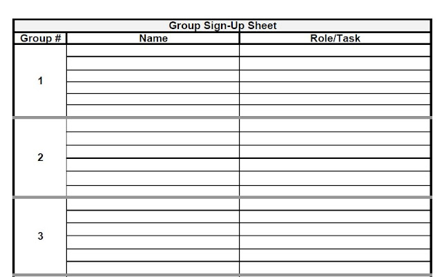 The Admin Bitch: Download Group Project Sign Up Sheet Template (Excel And  PDF)  Excel Sign In Sheet Template