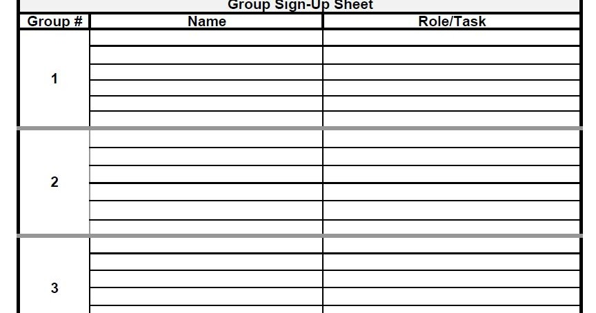group sign in sheet