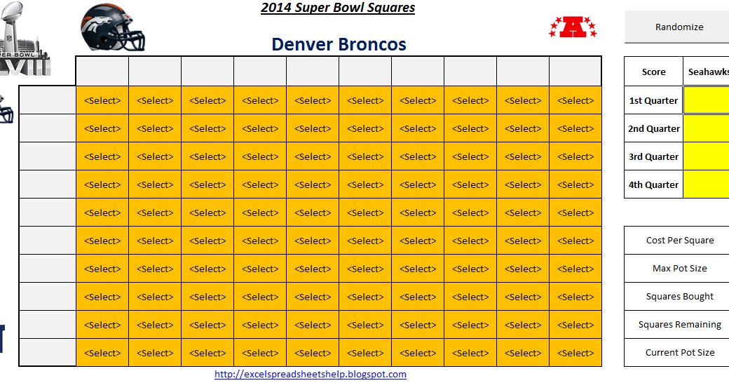 excel spreadsheets help super bowl squares 2014 spreadsheet