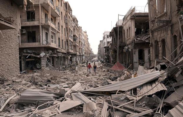 Damaged Buildings Syrian Civil War