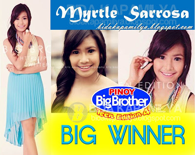 Myrtle Sarrosa is PBB Teens 4 BIG WINNER