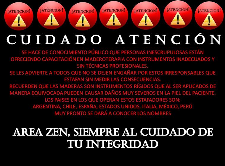 LIC. WILSON PATIÑO Y AREA ZEN, CENTRO DE FORMACIÓN !ADVIERTEN!: