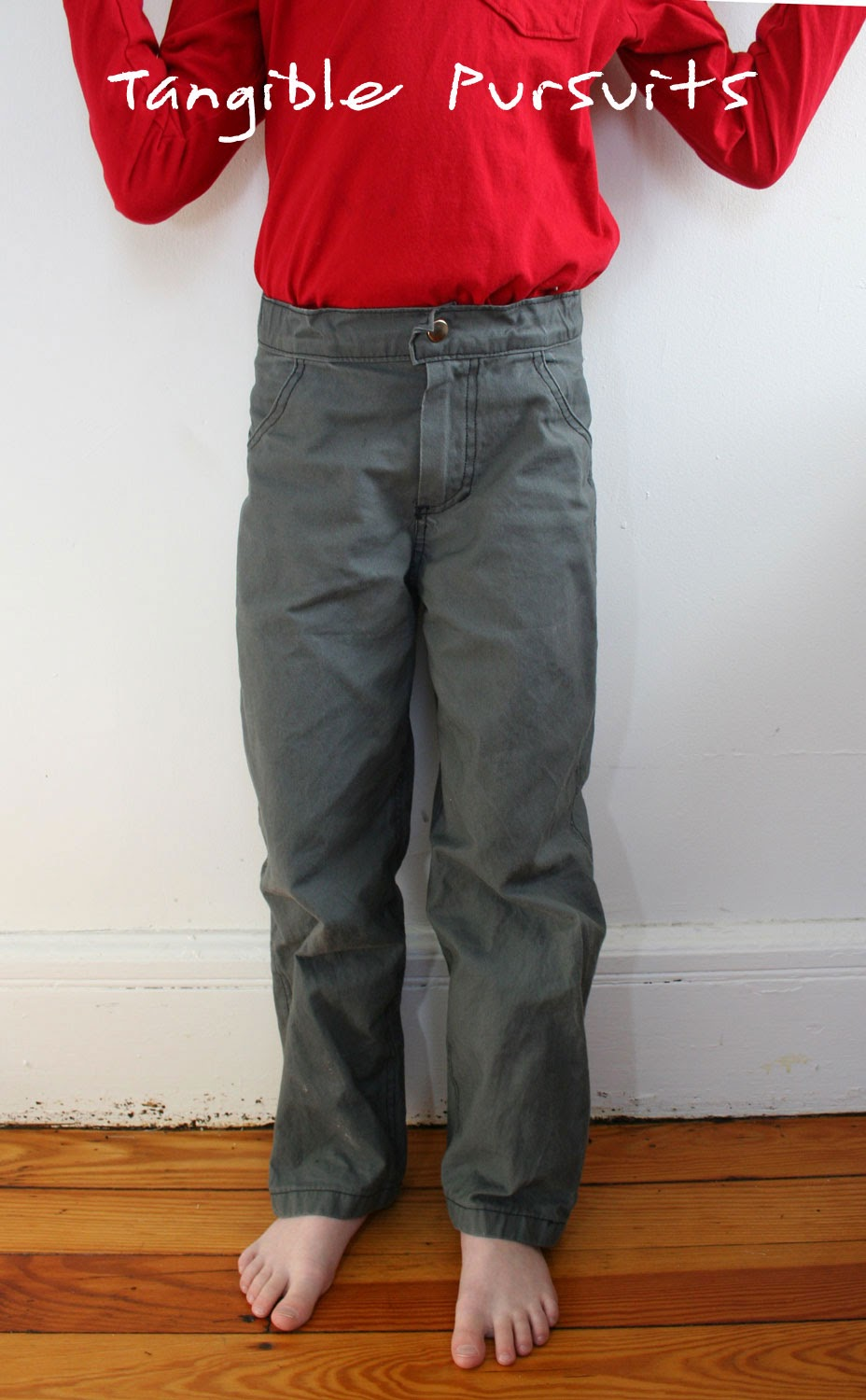 Tangible Pursuits: Grey Twill Pants with Jeans Styling