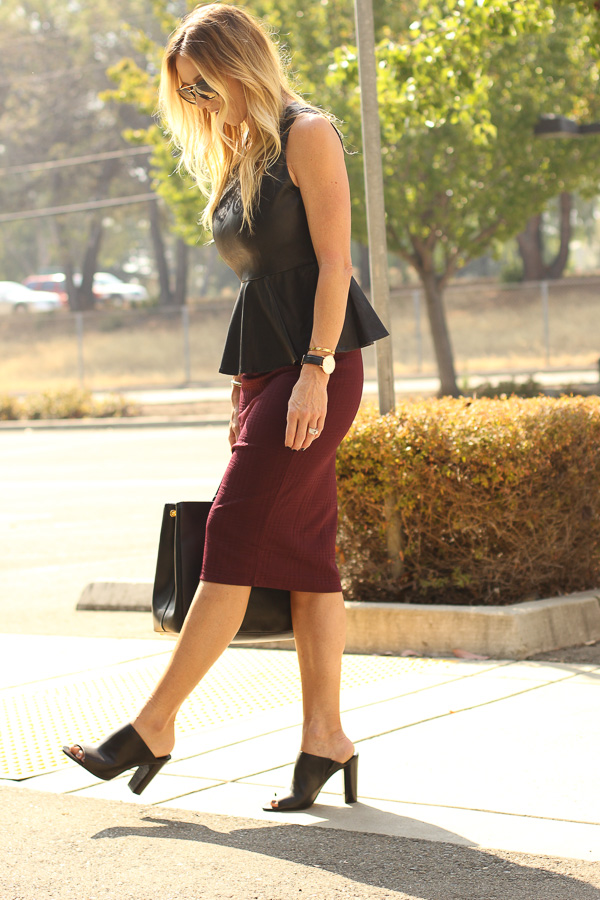 parlor girl burgundy and black fall style
