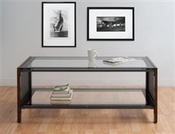 Calico Designs Modern Glass Coffee Table
