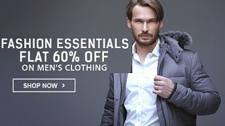 Fashion Essential: Flat 60% Off on Men's Clothing @ Flipkart