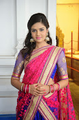 Sri Mukhi Gorgeous Half saree Photos-thumbnail-1