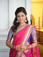 Sri Mukhi Gorgeous Half saree Photos at Nadhi Theeram-cover-photo