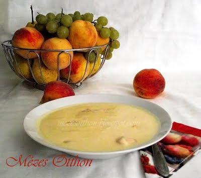 joghurtos őszibarack leves főzés nélkül fotó