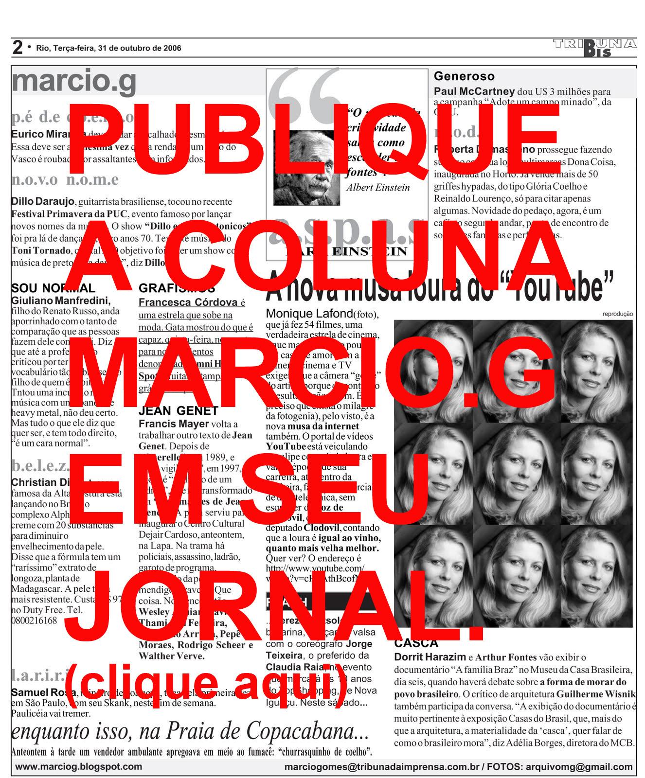 A melhor coluna social do Rio de Janeiro
