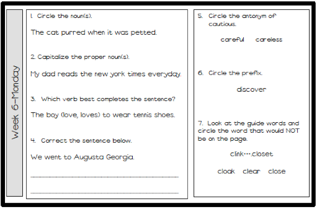Daily Language Review Grade 1 Worksheets Search Results