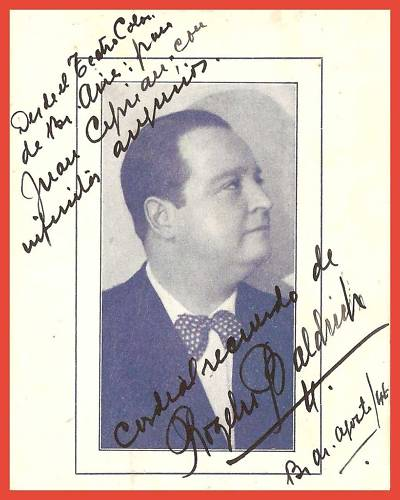 GREAT ARGENTINE TENOR ROGELIO BALDRICH (1890 - 1975) CD