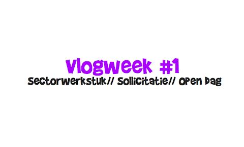 Vlogweek #1 Sectorwerkstuk, Sollicitatie, Open Dag