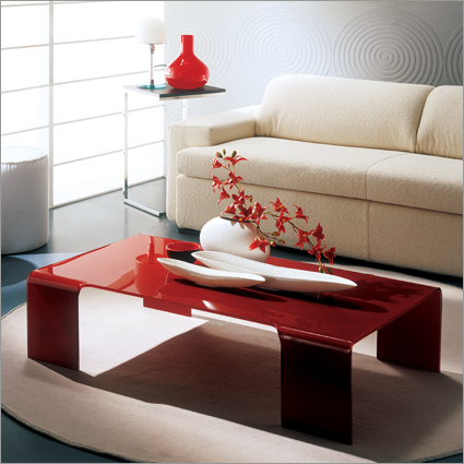 Some unique coffee table decorating ideas you can inspire for Red modern coffee table
