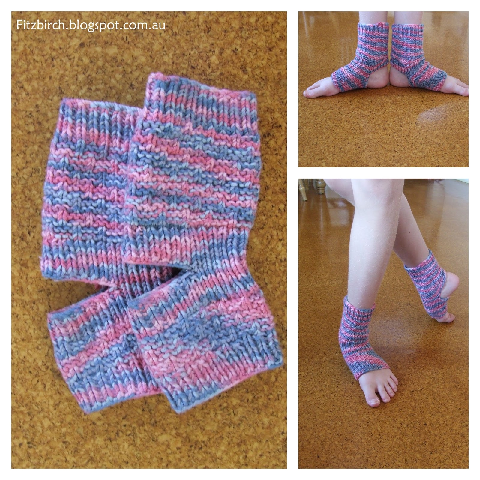 Knitting Pattern For Yoga Socks : FitzBirch Crafts: Yoga Socks for a Ballerina