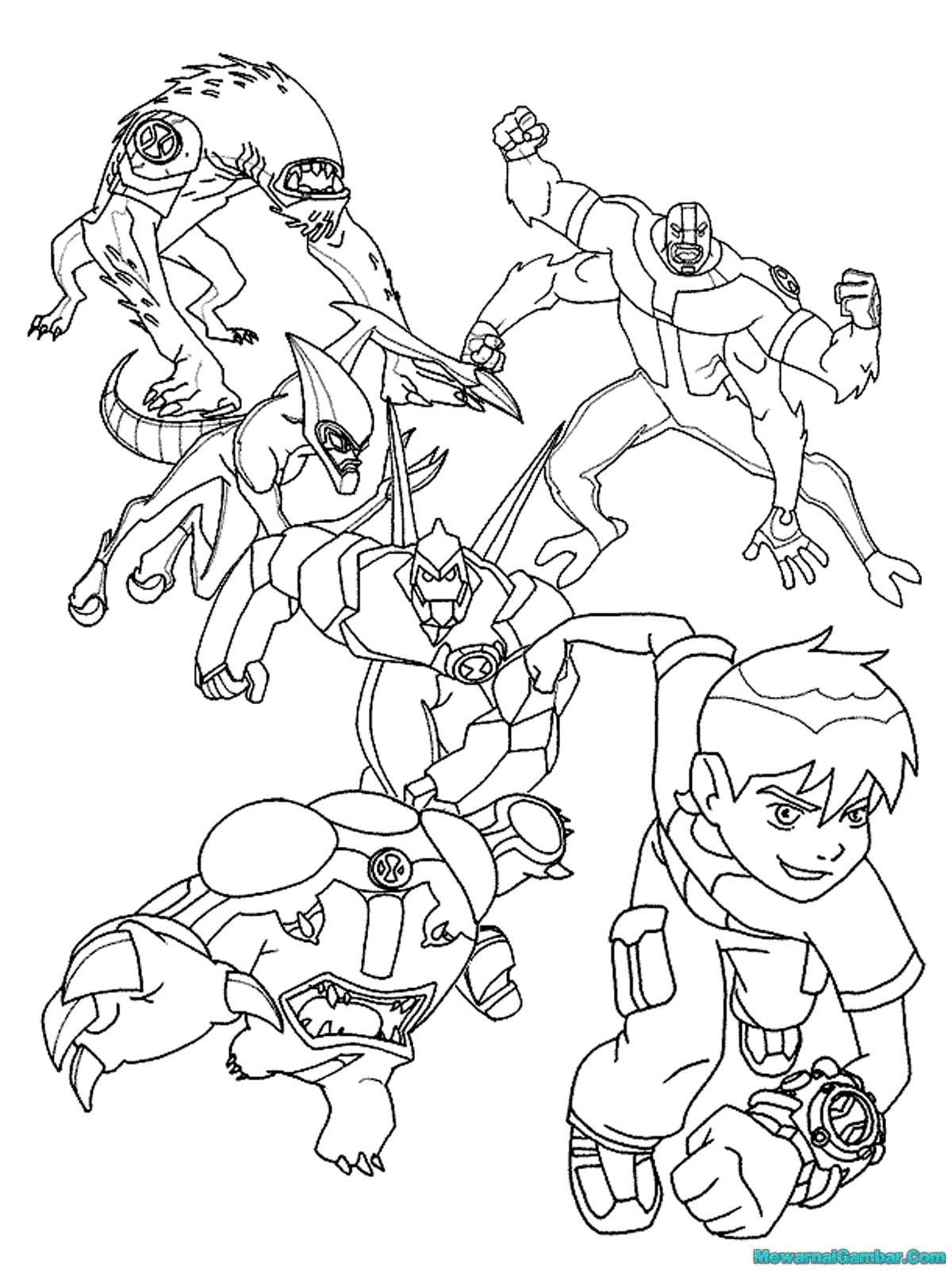 Cartoon Network Ben 10 Coloring Pages