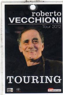 Pass Roberto Vecchioni tour 2012