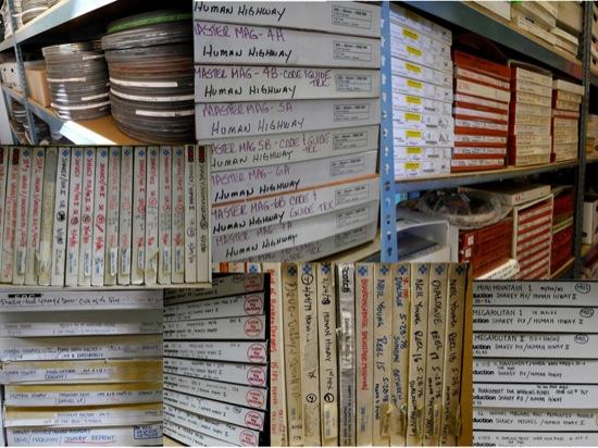 Human Highway Filmrollen im Archiv