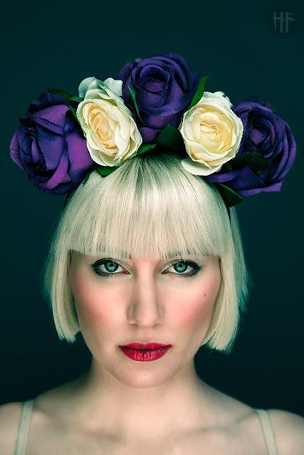 ggs floral crown headband frida kahlo purple bridal festival bohemian