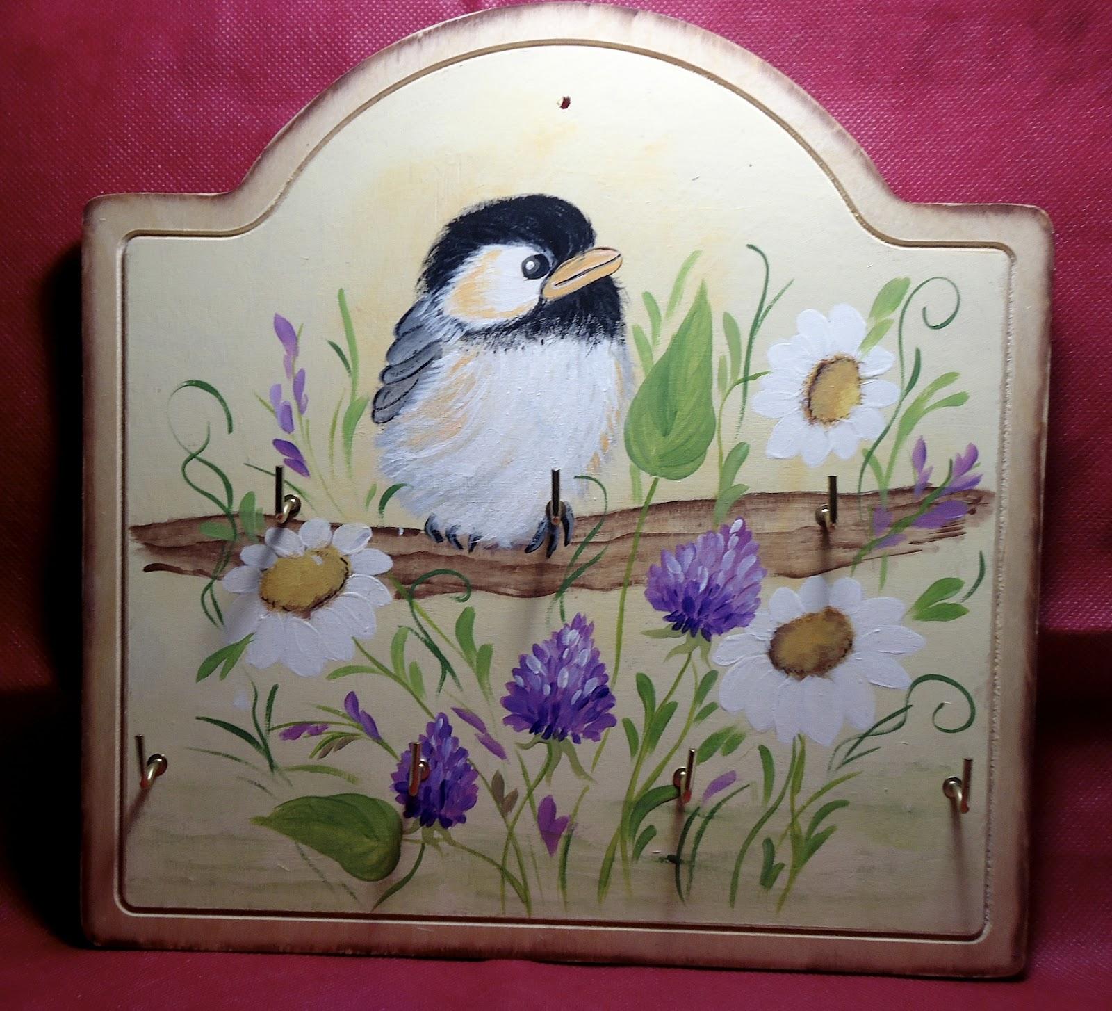 piccoli hobby di fantasia di ale: Vari oggetti dipinti a mano in legno