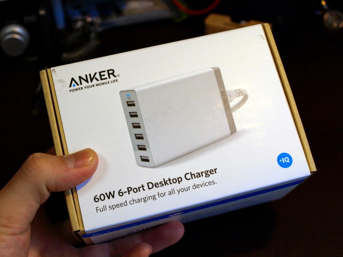 Anker 60W 6 ポート USB 急速充電器購入しますた