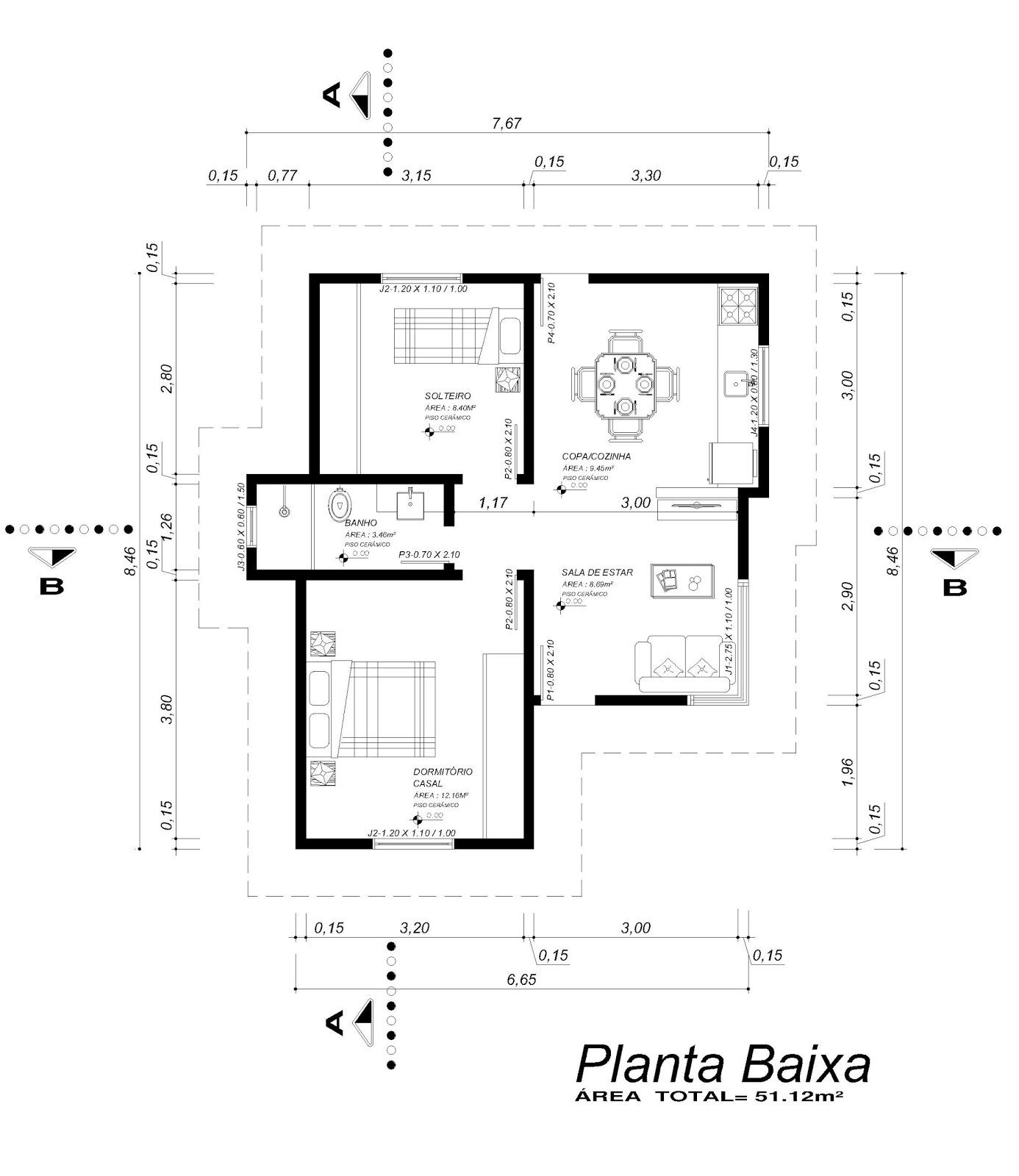 Angelica Colombo Ponciano: Projeto Completo Casa 51 12m² #666666 1386 1600