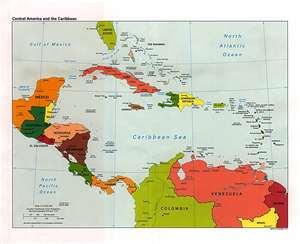 Mapa de Jamaica en Centroamérica y El Caribe