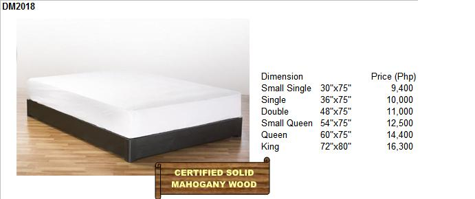 Solid Mahogany Wood Bed Frame Available in various designs, sizes and ...
