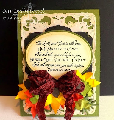 Our Daily Bread Designs, Scripture Series 1, Custom Decorative Corners, Custom Fancy Foliage