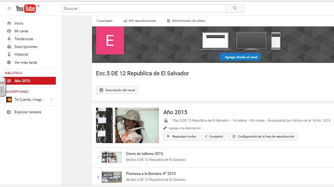 Canal de youtube de la Escuela